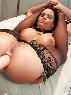 Huge boobs strap on
